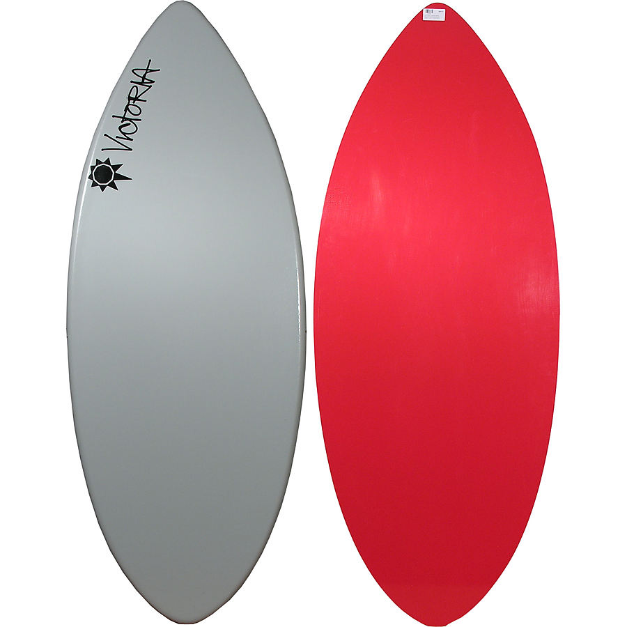 Victoria Skimboards Poly E Glass Grey Red Large Skimboard - Image 1