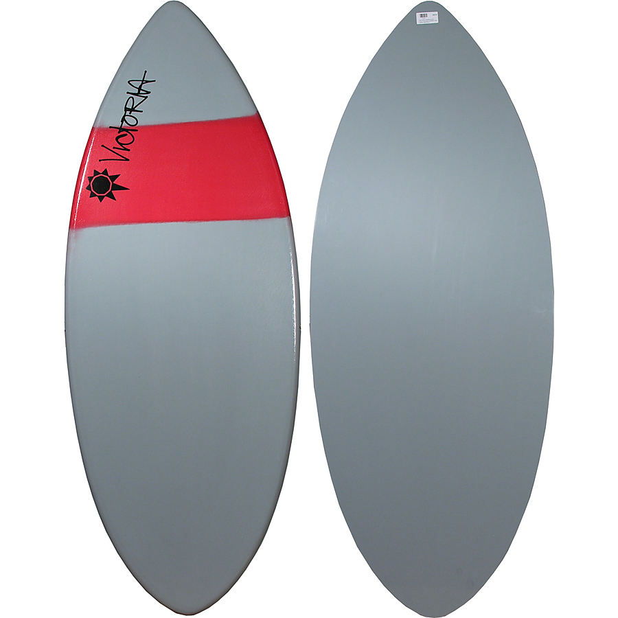 Victoria Skimboards Poly E Glass Grey Red Large Skimboard