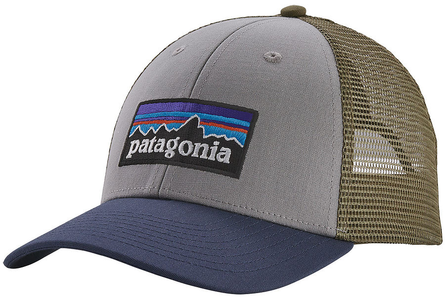 Patagonia P-6 LoPro Low Crown Trucker Cap Drifter Grey Blue