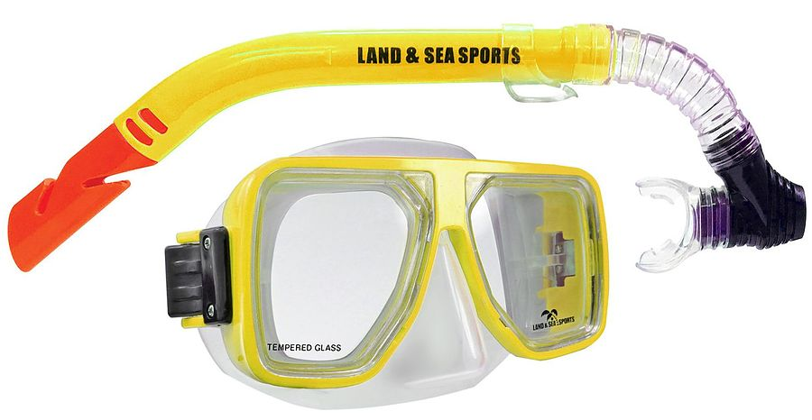 Surf Sail Australia Bermuda Silicone Mask and Snorkel Set Yellow