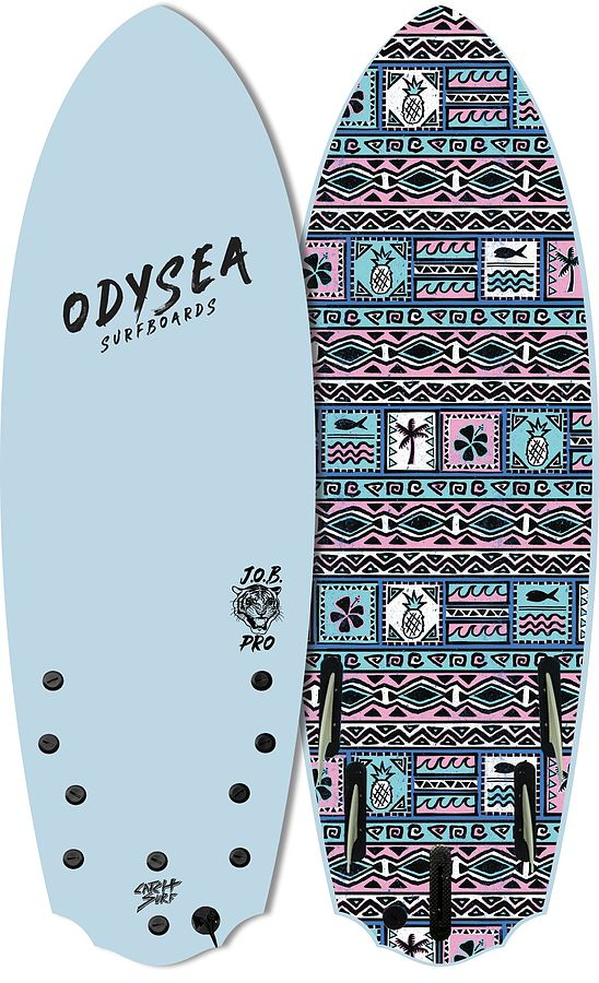 Catch Surf Odysea Five Fin Pro 2021 JOB Softboard 5 ft 2 inches Sky Blue