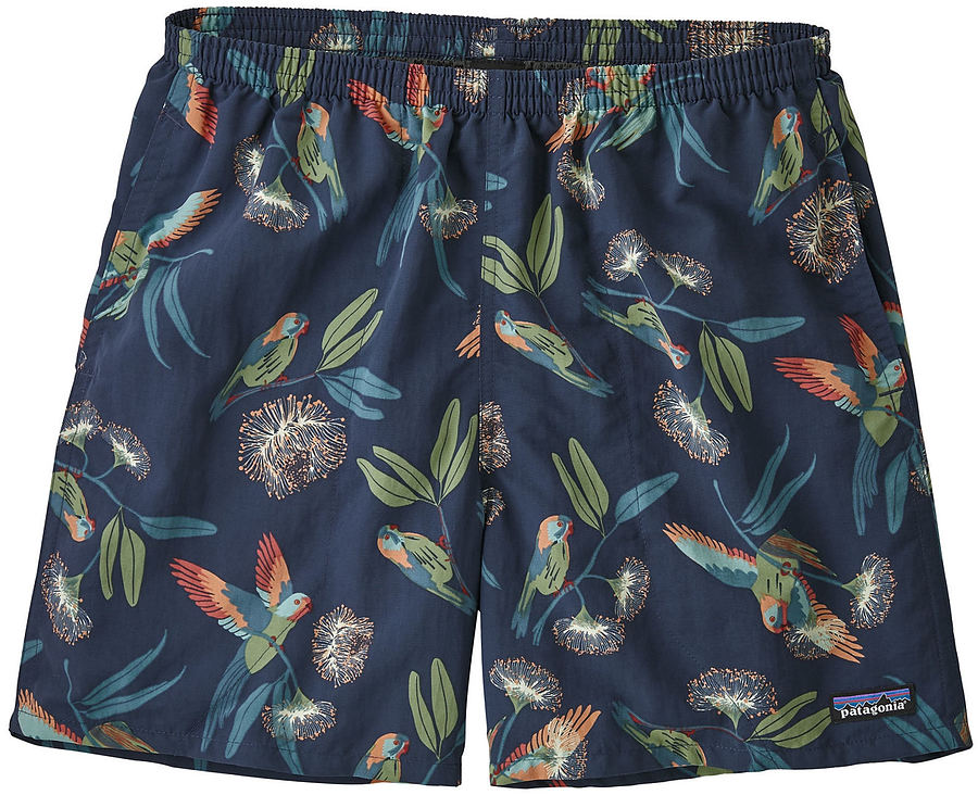Patagonia Mens Baggies 5 Inch Boardshorts Parrots Stone Blue