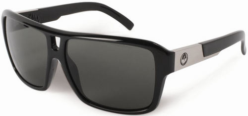 Dragon Jam Jet Grey Polarised Sunglasses - Image 1