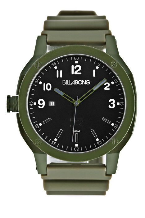Billabong Scout PU All Military Mens Watch (On Special Was $169.99)