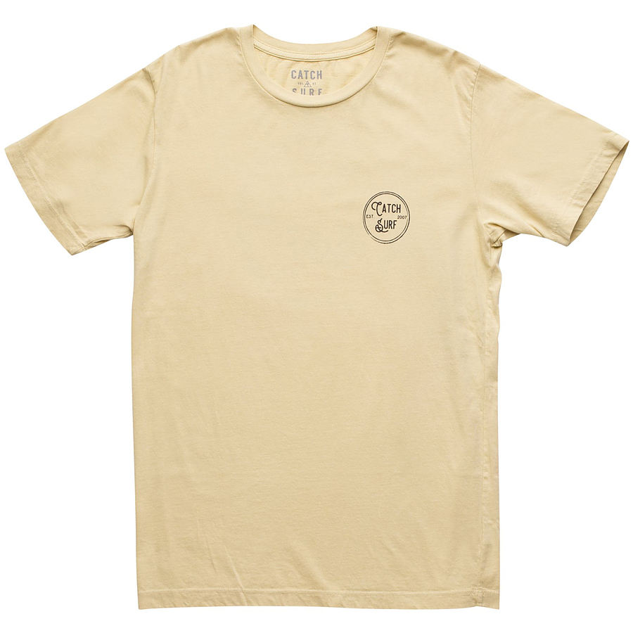 Catch Surf Mens Stamp Logo SS Tee Vintage Yellow