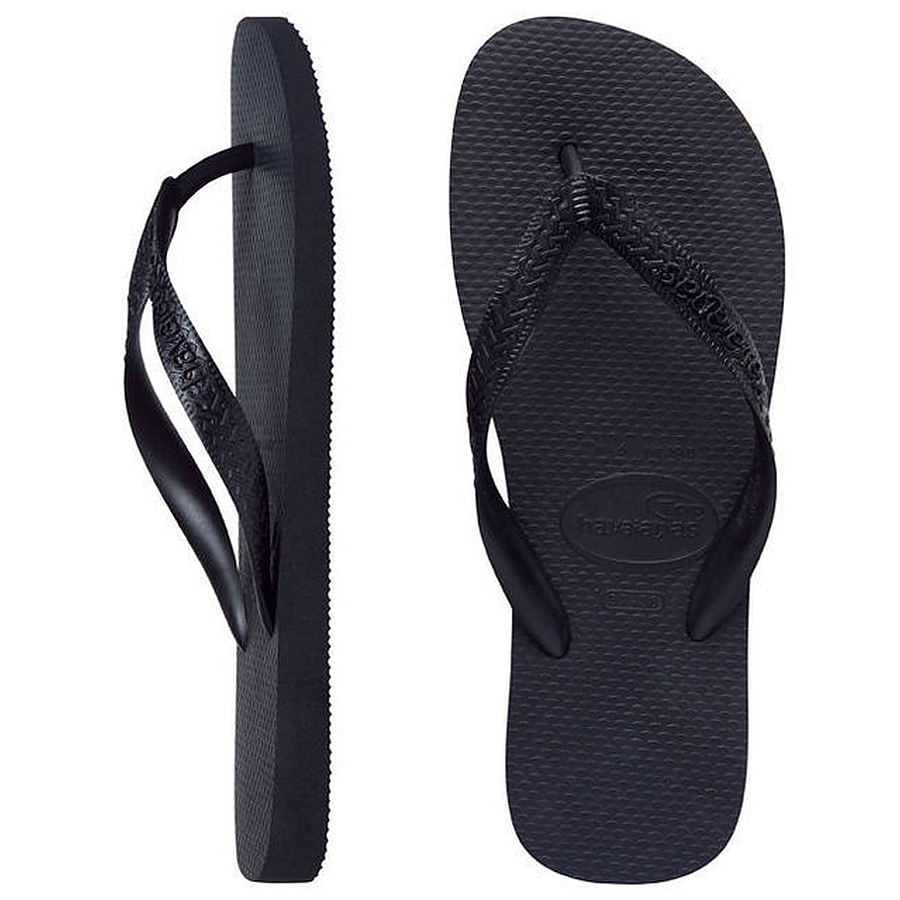 Havaianas Kids Top Black Thongs