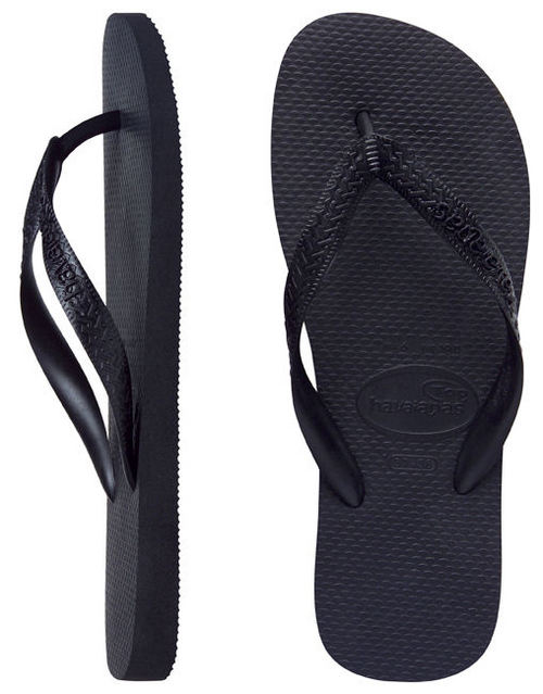 3c0a3d931 Havaianas Mens Top Black Thongs - Image 1