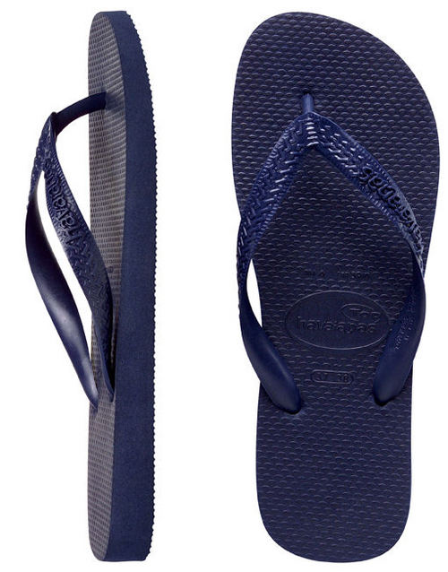 Havaianas Mens Top Navy Blue Thongs