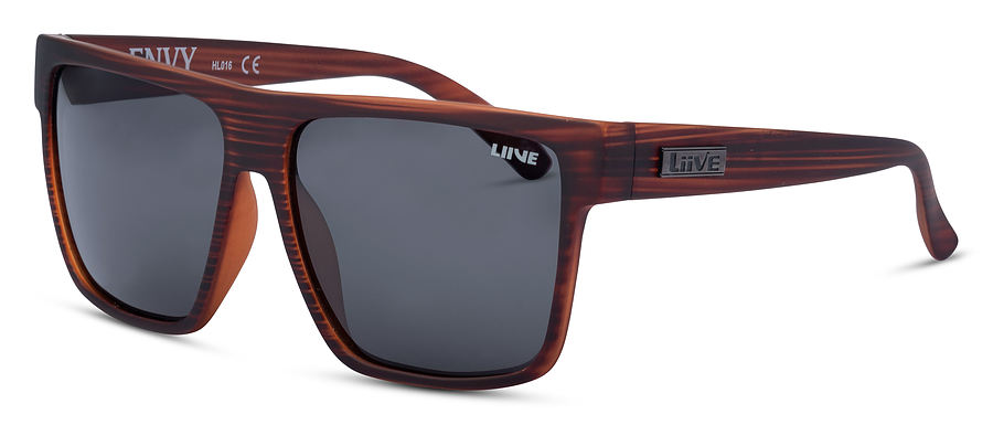 Liive Vision Envy Polarised Black Wood Sunglasses