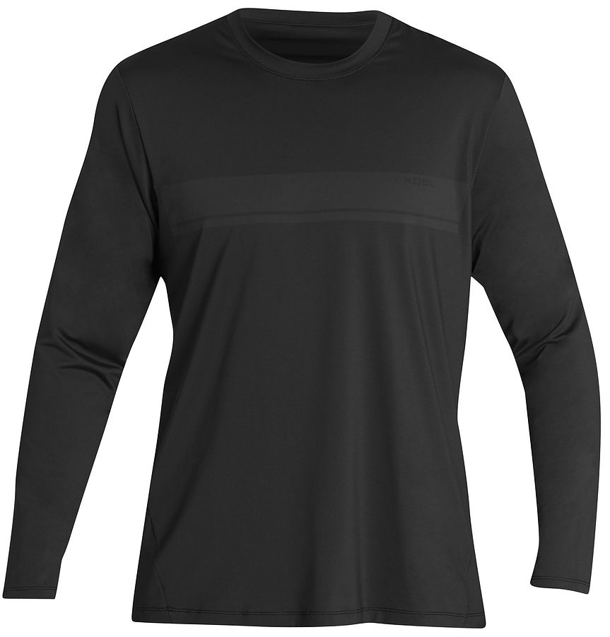 Xcel Men's Premium Stretch L S Rash Vest Black - Image 1