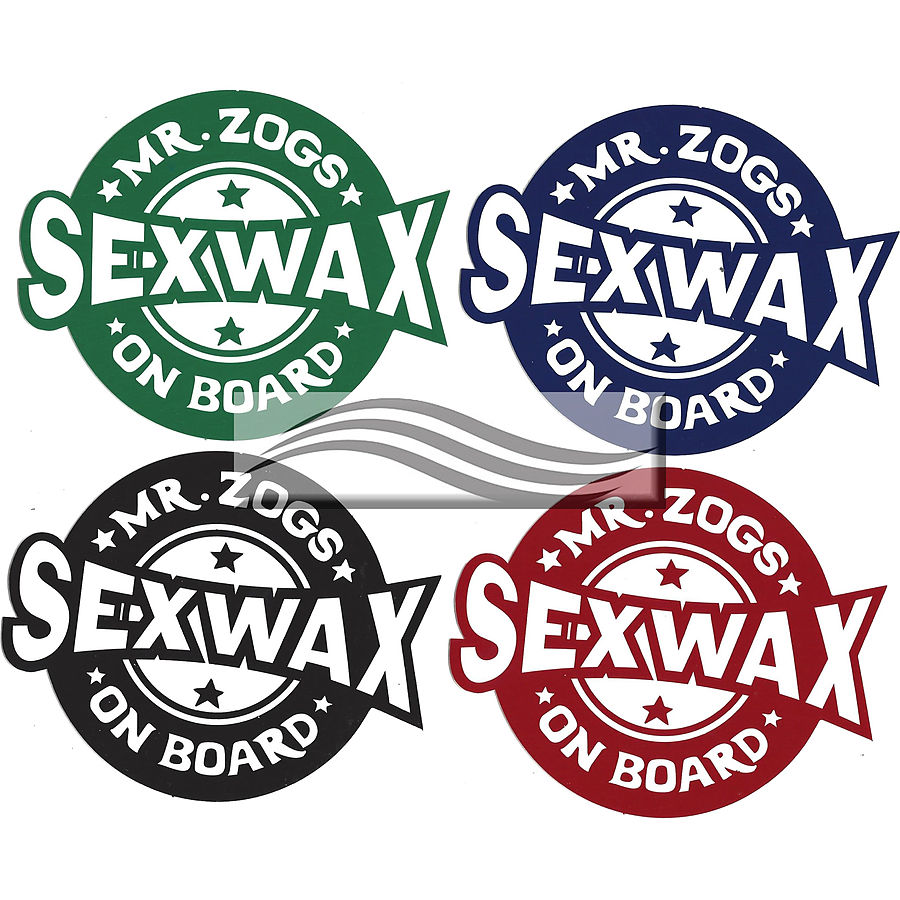 Mr Zogs Sex Wax On Board Sticker - Image 1