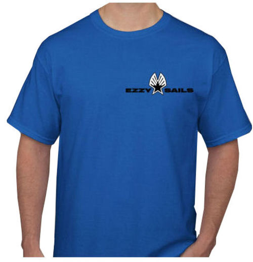 Ezzy Logo Mens Royal Blue Tee - Image 1