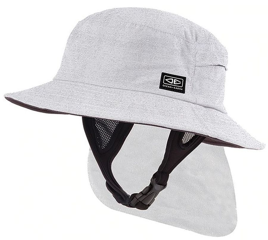 Ocean And Earth Indo Mens Surf Hat White