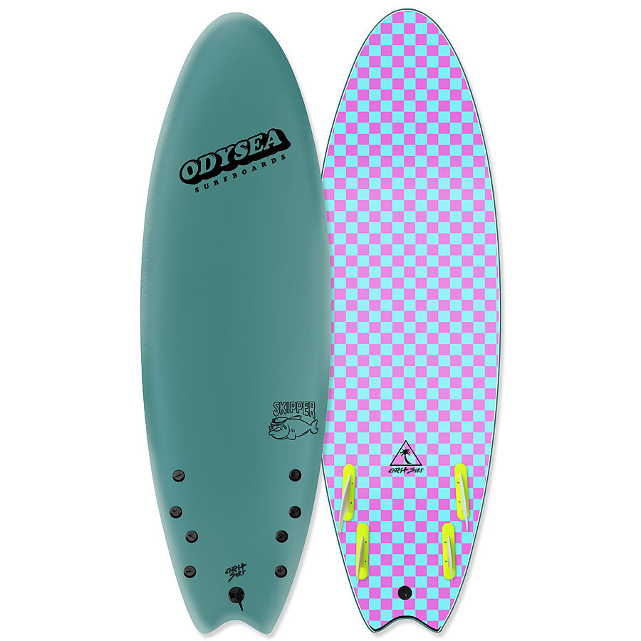 Catch Surf Odysea Skipper Steel Green Quad Fin Softboard