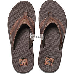 more on Reef Leather Fanning Dark Brown Mens Thongs