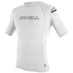 more on Oneill Mens 6Oz Basic Skins SS Crew Rash Vest White