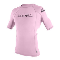 more on Oneill Youth Basic Skins S/S Rash Vest Crew Pink