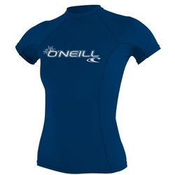 more on Oneill 6oz Basic Skins SS Ladies Crew Rash Vest Deep Sea