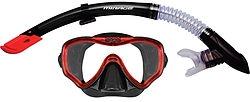 more on Surf Sail Australia Crystal Silicone Mask and Snorkel Set Black Red