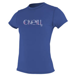 more on Oneill Skins Short Sleeved Ladies RashTee Pacific