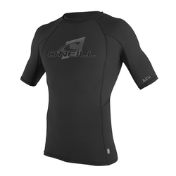 more on Oneill Mens 6oz Skins SS Crew Rash Vest Black