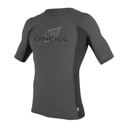 more on Oneill Mens 6oz Skins SS Crew Rash Vest Smoke Black