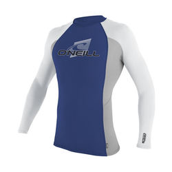 more on Oneill Mens 6oz Skins LS Crew Rash Vest Pacific Flint White