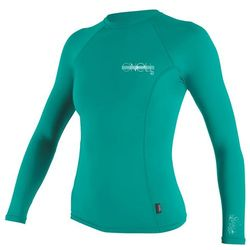 more on Oneill Skins Long Sleeved Ladies Crew Rashie Light Aqua