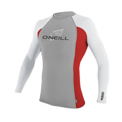 more on Oneill Youth Skins L S Crew Rash Vest Flint Red White