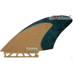 more on Futures Rasta HC Jute Teal Keel Fin Set