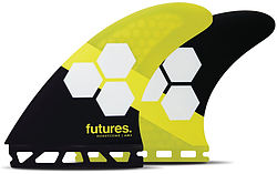 more on Futures AM2 Honeycomb Large Tri Fin Fin Set