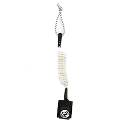 more on Creatures Bodyboard Coiled Wrist Leash White Black