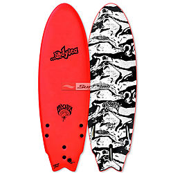 more on Catch Surf Odysea X Lost RNF 2018 5 ft 5 inches Tri Fin Softboard Red