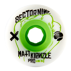 more on Sector 9 63MM 78A Matt K White Skate Wheels