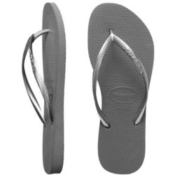 more on Havaianas Ladies Slim Metallic Grey Thongs