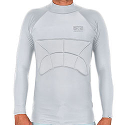 more on Ocean And Earth Mens Grey Rib Guard Padded LS Rashie