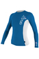 Photo of Oneill 6oz Basic Skins L/S Girls Crew Rash Vest