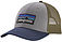 Photo of Patagonia P-6 LoPro Low Crown Trucker Cap Drifter Grey Blue