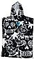 more on Creatures Grom Beach Poncho Towel Black White