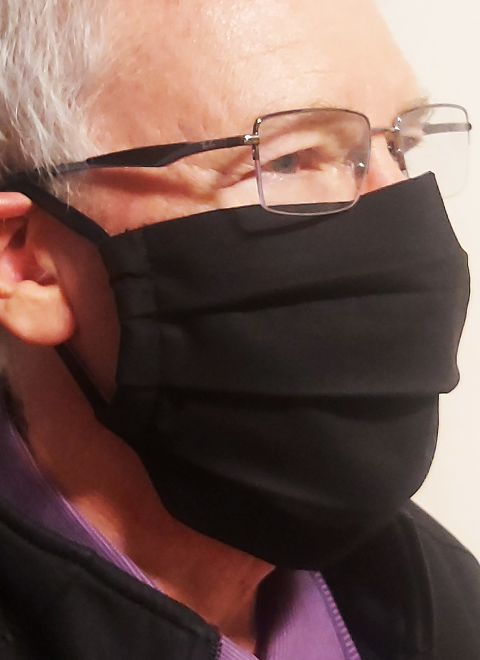 Adults Reusable Cotton Face Mask - Black with 3 layers - Image 1