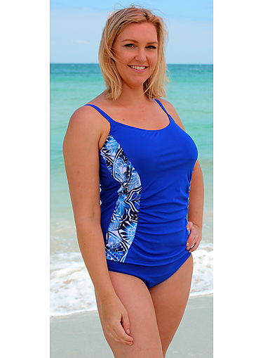Tankini Top with Adjustable Straps Lagoon Chlorine Resist - Image 1