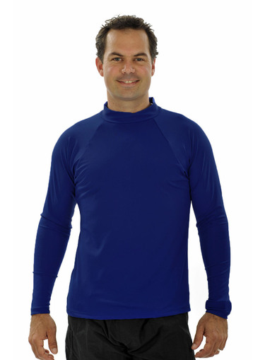 Mens Long Sleeve Rash Shirt - Navy - Image 1