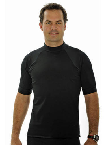 Mens Short Sleeve Rash Shirt - Black - Image 1