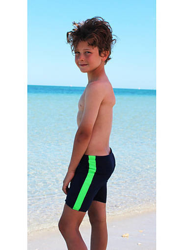 Boys Jammers - Navy and Lime - Image 1
