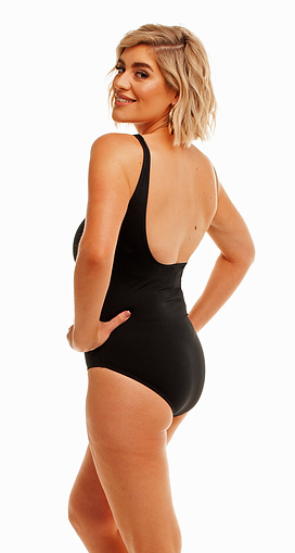 Square Neck One Piece Black CR - Image 2