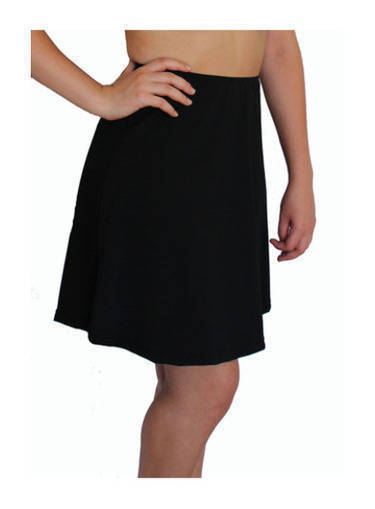 Long Swim Skirt - Black Chlorine Resistant - Image 1