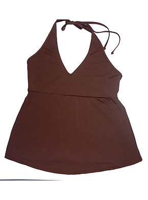 Halter Top Chocolate Chlorine Resist