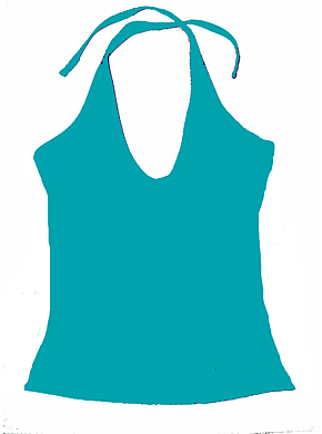 Halter Top Teal Chlorine Resist