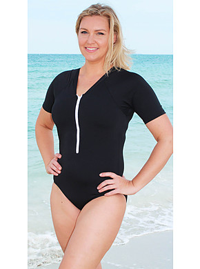 more on Zip Front Rash Suit One Piece 50+ Sun Protection Chlorine Resist