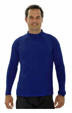 Mens Long Sleeve Rash Shirt - Navy